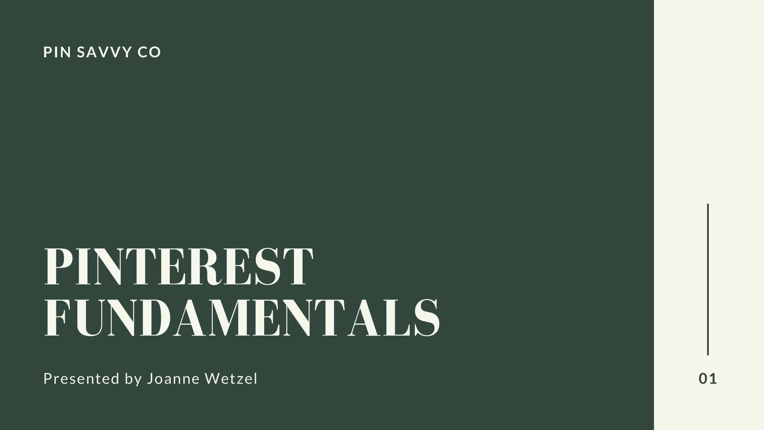 Pinterest Fundamentals